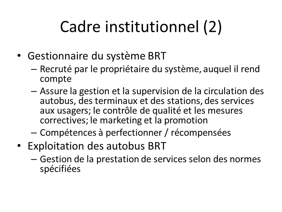 Cadre institutionnel (2)