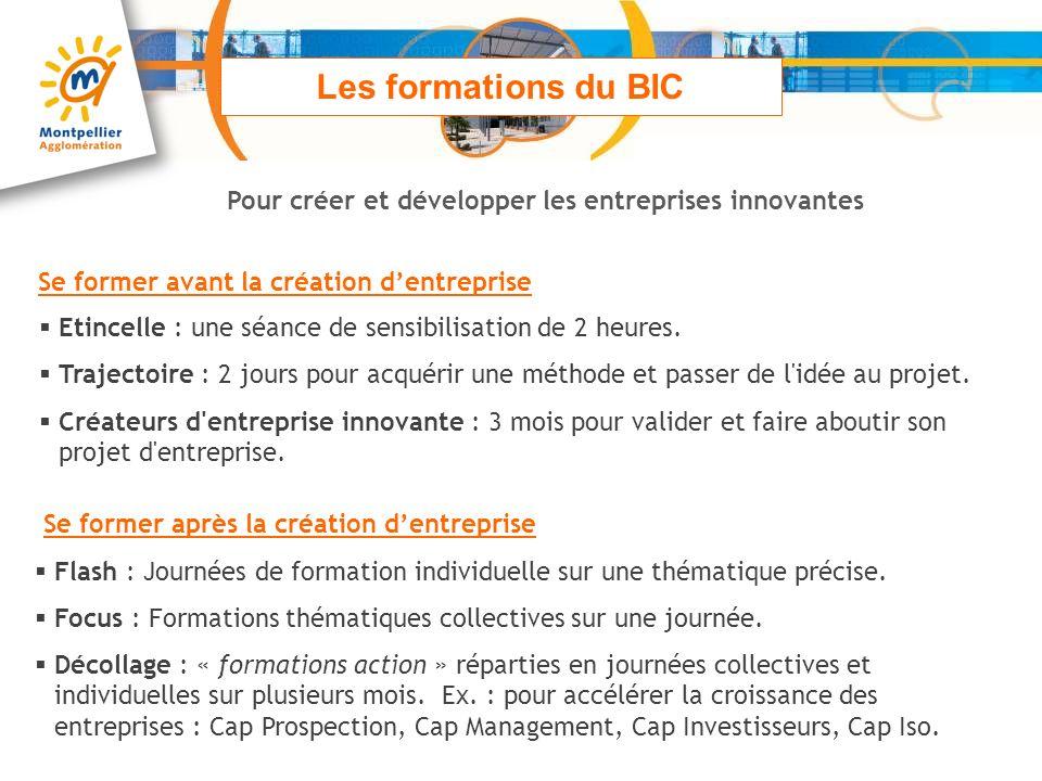 Les formations du BIC Pour créer et développer les entreprises innovantes. Se former avant la création d'entreprise.
