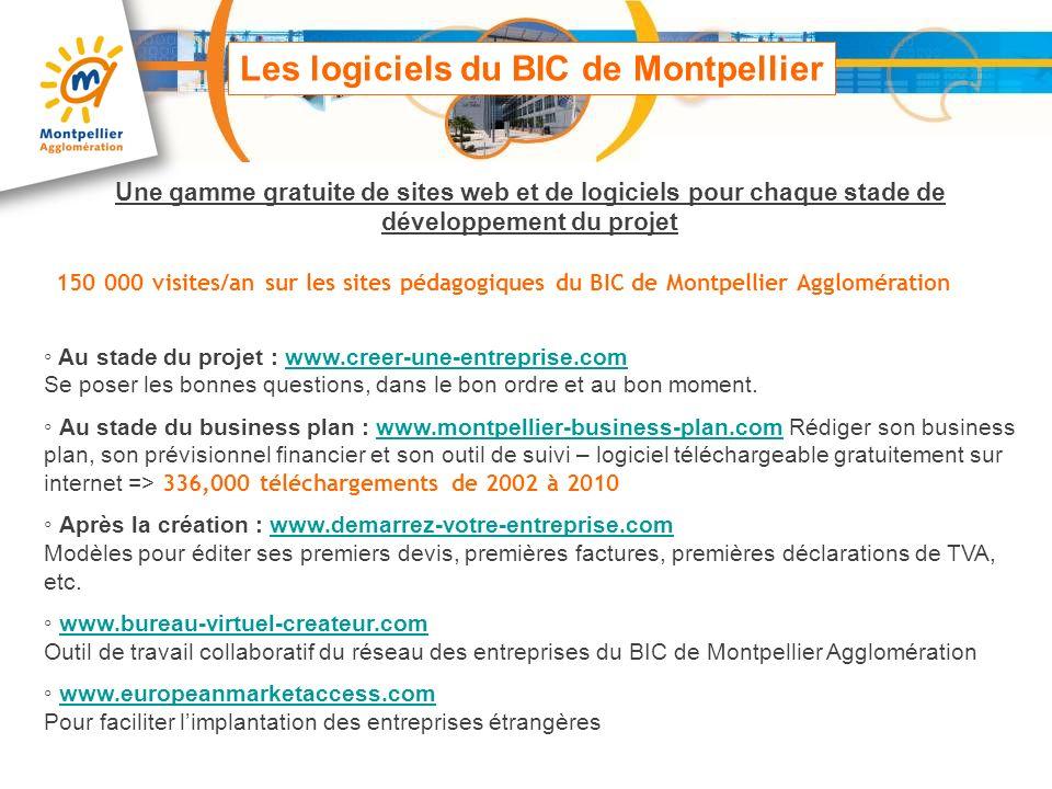 Les logiciels du BIC de Montpellier