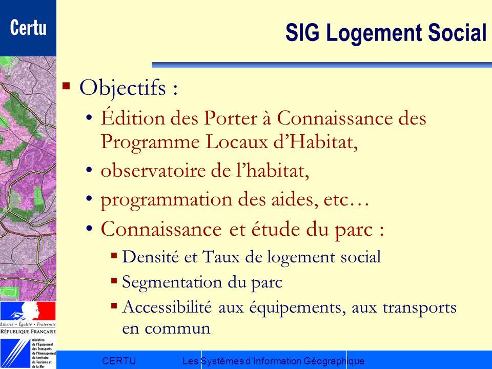 SIG Logement Social Objectifs : Connaissance et étude du parc :