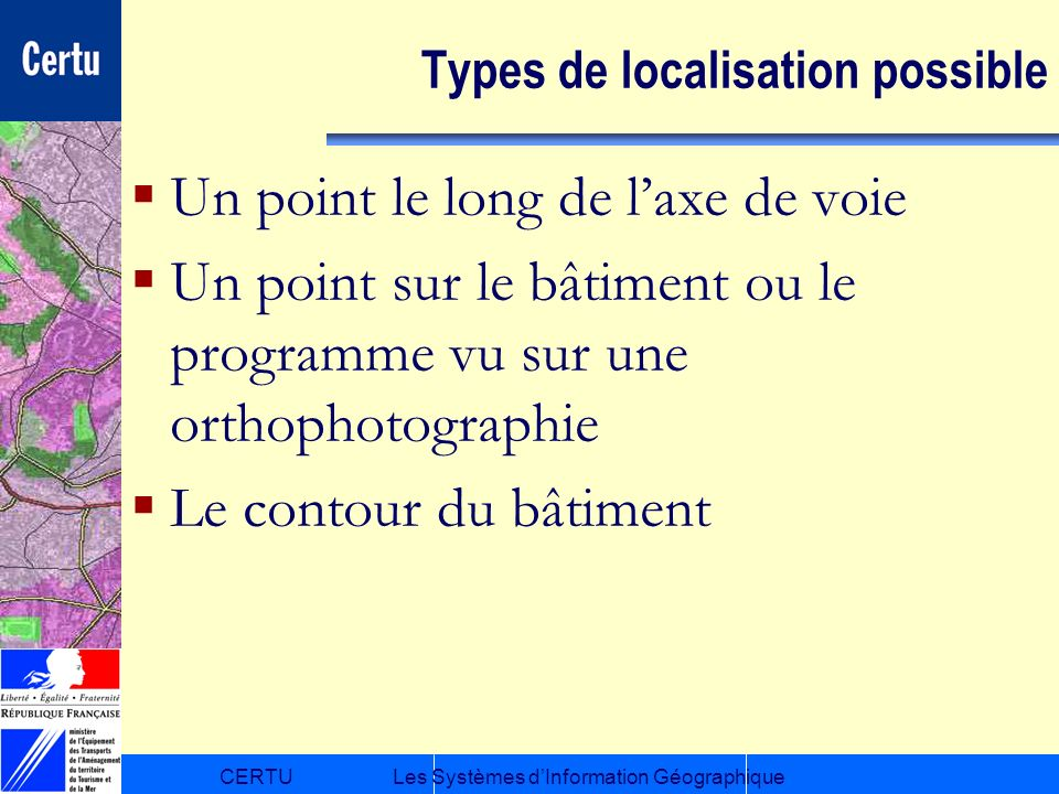 Types de localisation possible
