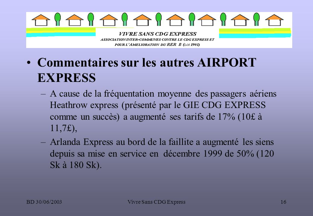 Commentaires sur les autres AIRPORT EXPRESS