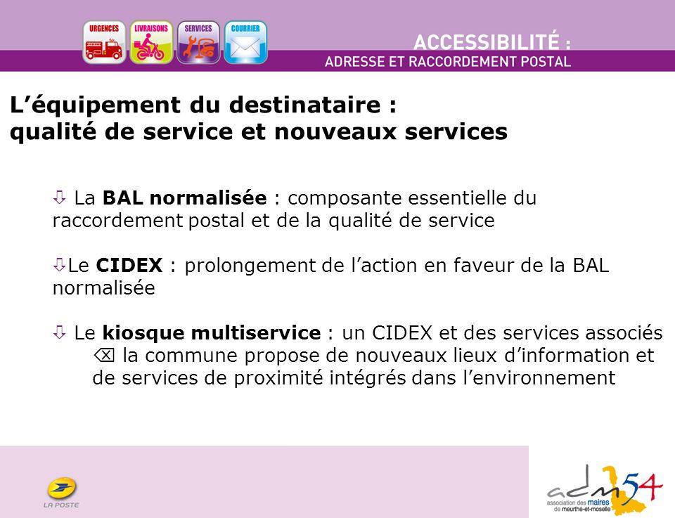 L'équipement du destinataire : qualité de service et nouveaux services