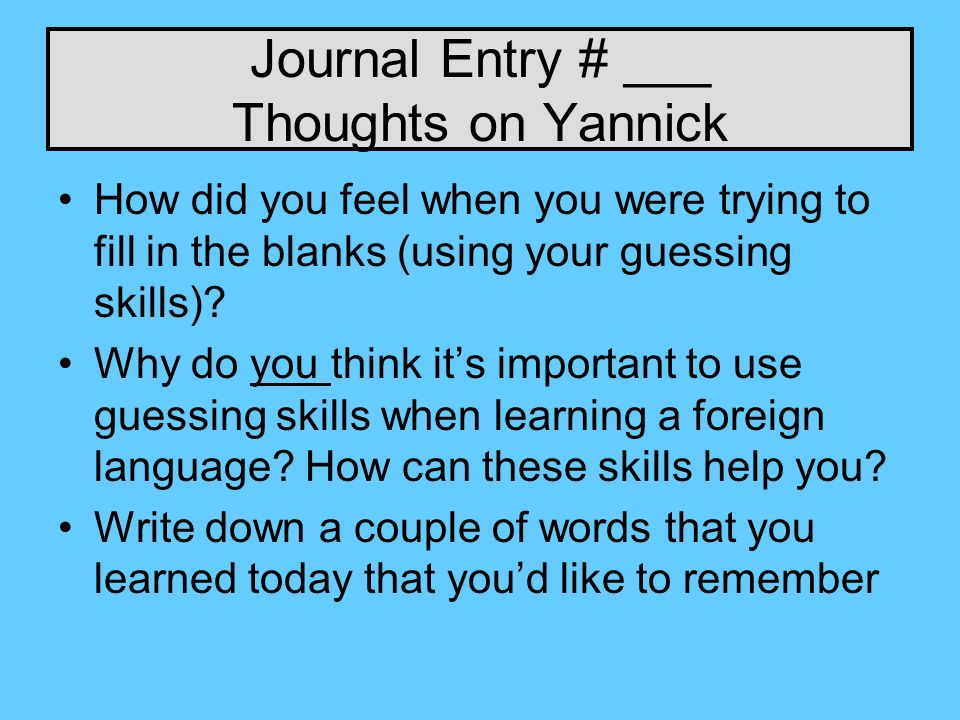 Journal Entry # ___ Thoughts on Yannick