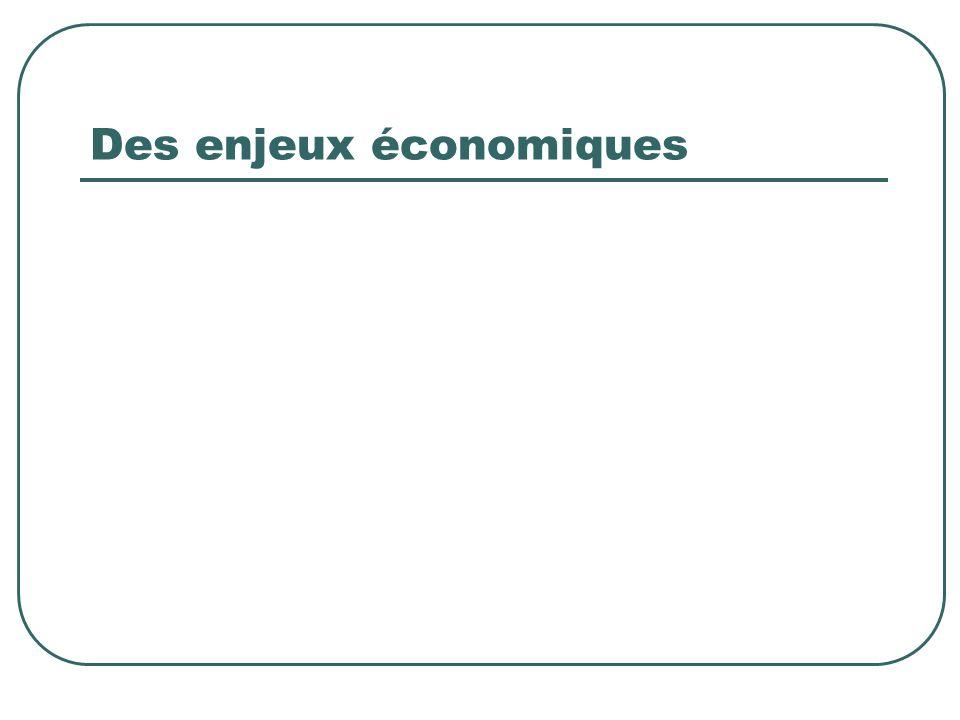 Des enjeux économiques