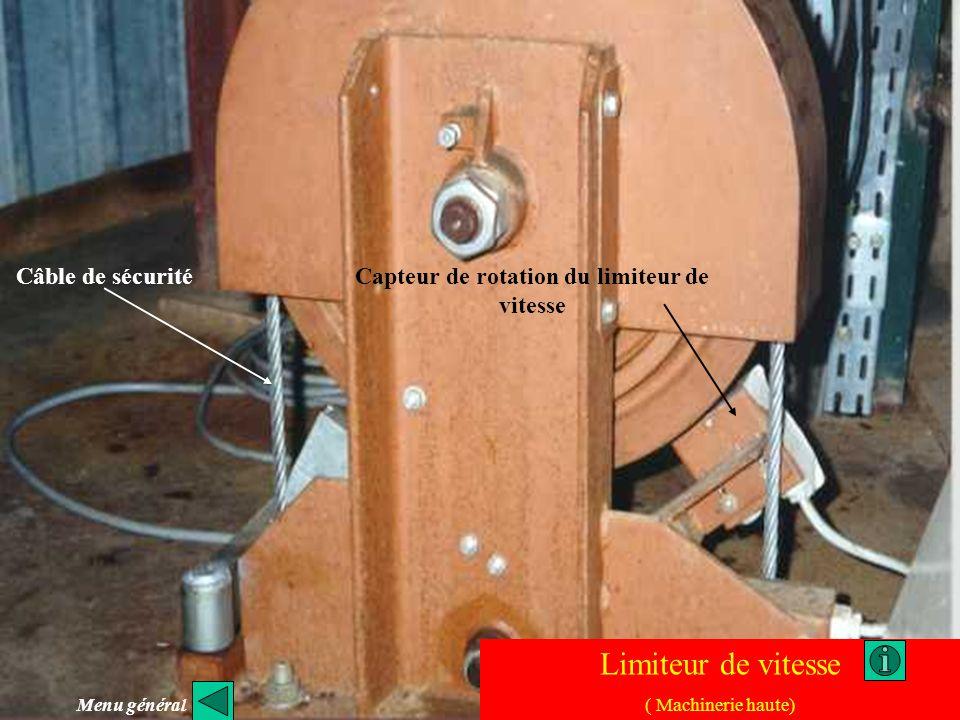 Capteur de rotation du limiteur de vitesse