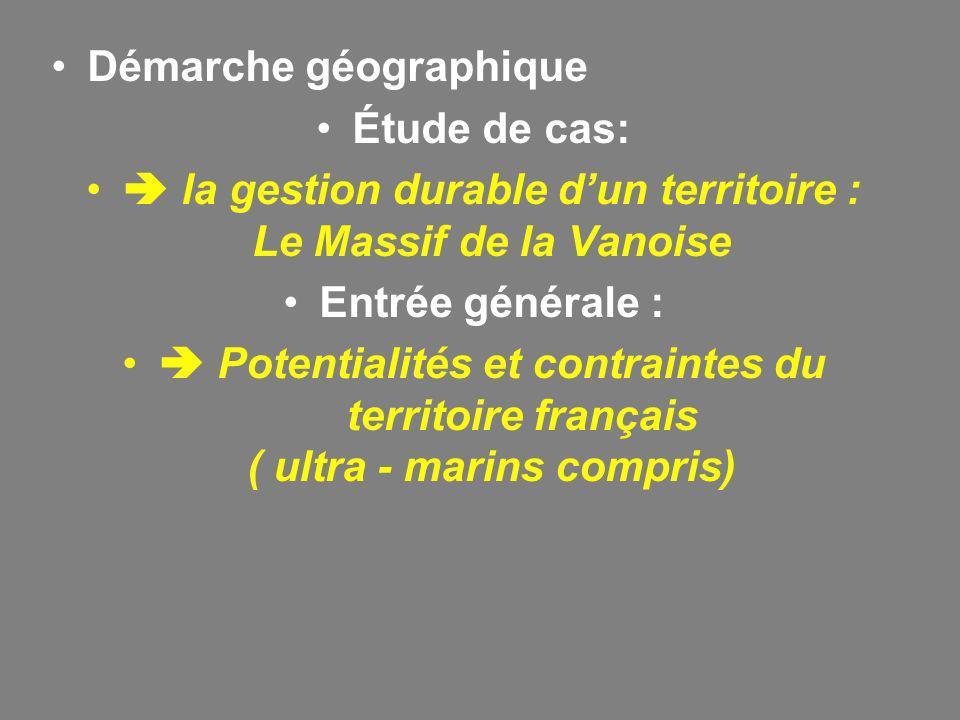  la gestion durable d'un territoire : Le Massif de la Vanoise