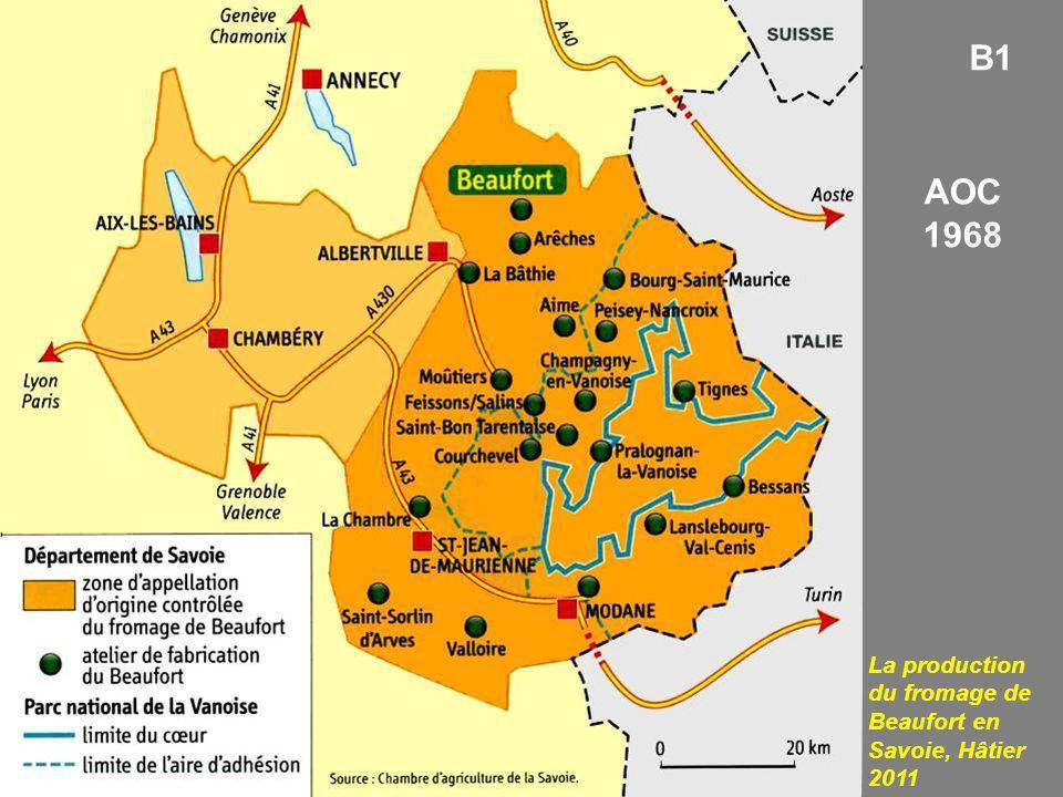 B1 AOC 1968 La production du fromage de Beaufort en Savoie, Hâtier 2011