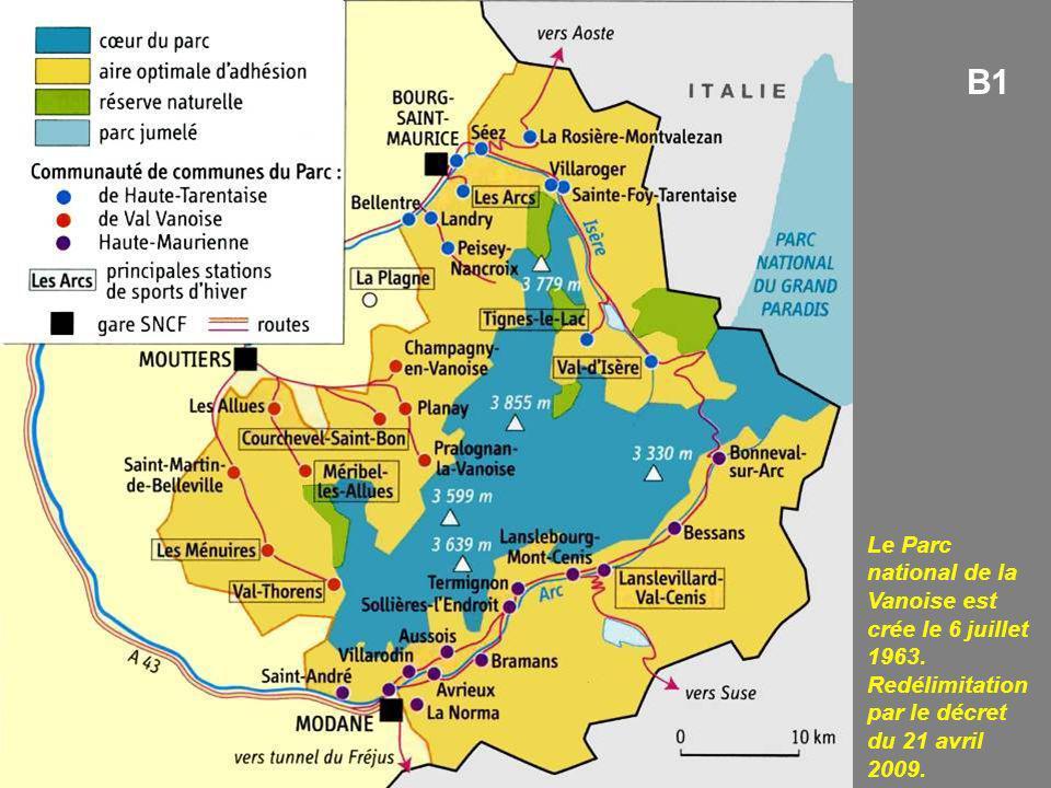 B1 Le Parc national de la Vanoise est crée le 6 juillet 1963.