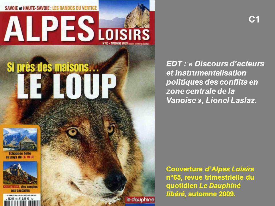 C1 EDT : « Discours d'acteurs et instrumentalisation politiques des conflits en zone centrale de la Vanoise », Lionel Laslaz.