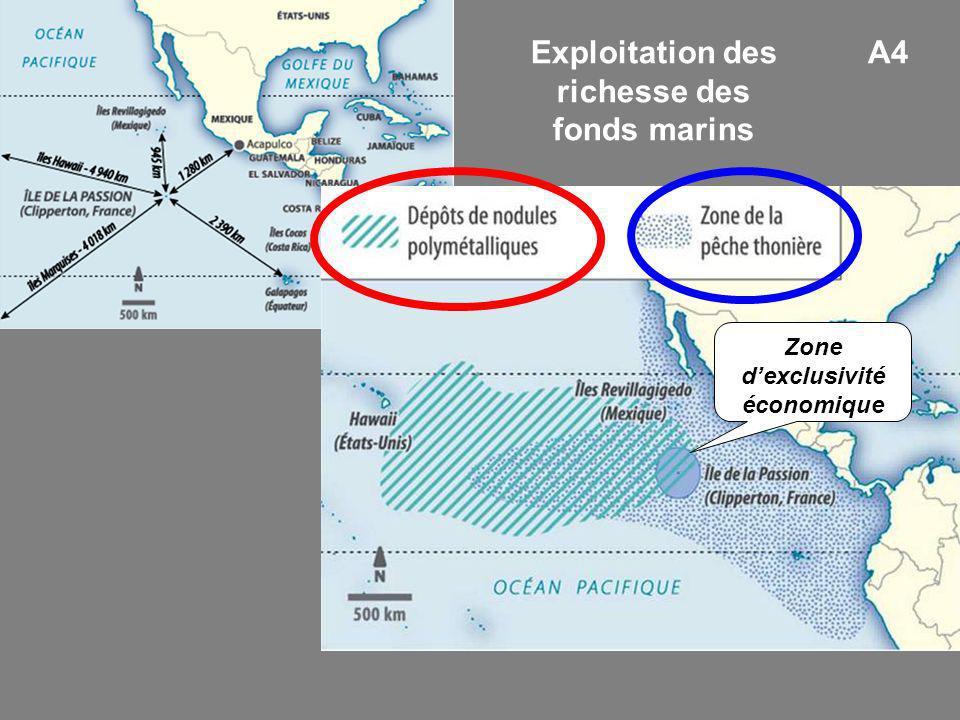 Exploitation des richesse des fonds marins