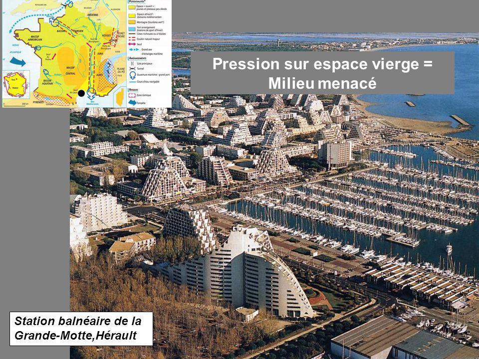 Pression sur espace vierge = Milieu menacé