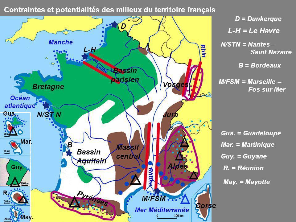 Contraintes et potentialités des milieux du territoire français
