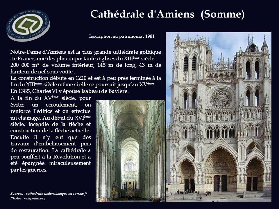 Cathédrale d Amiens (Somme)