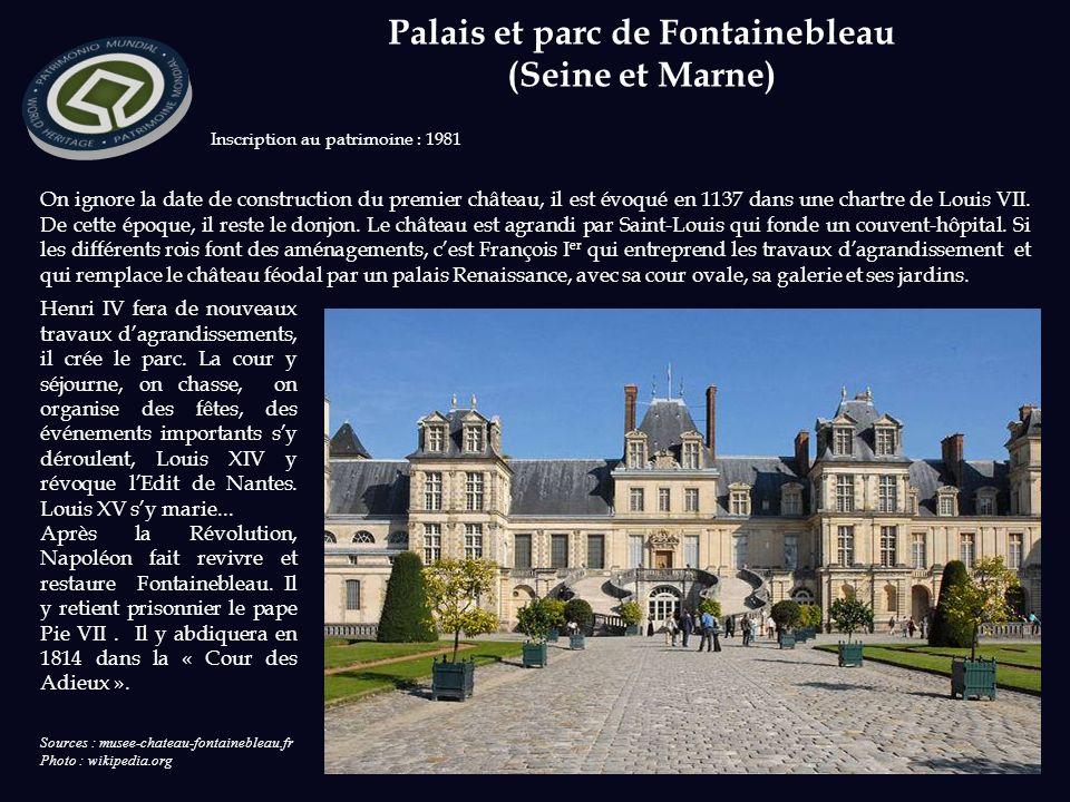 Palais et parc de Fontainebleau (Seine et Marne)