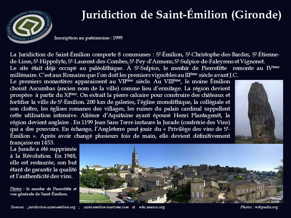 Juridiction de Saint-Émilion (Gironde)