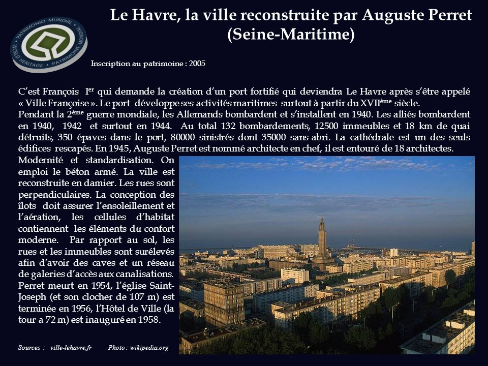 Le Havre, la ville reconstruite par Auguste Perret (Seine-Maritime)
