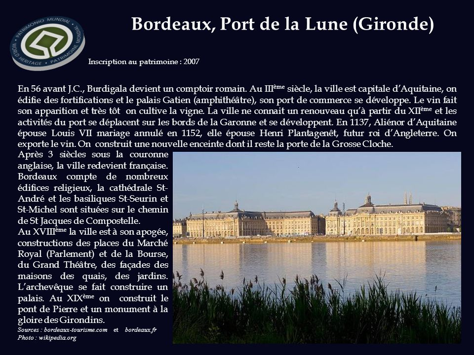 Bordeaux, Port de la Lune (Gironde)