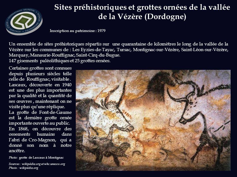 Sites préhistoriques et grottes ornées de la vallée de la Vézère (Dordogne)