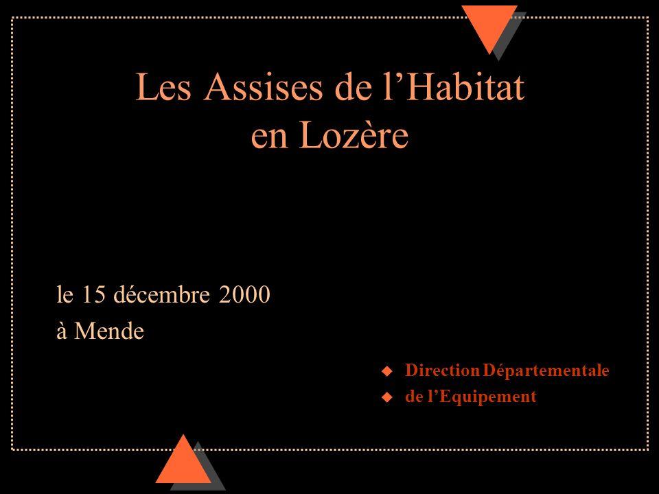 Les Assises de l'Habitat en Lozère