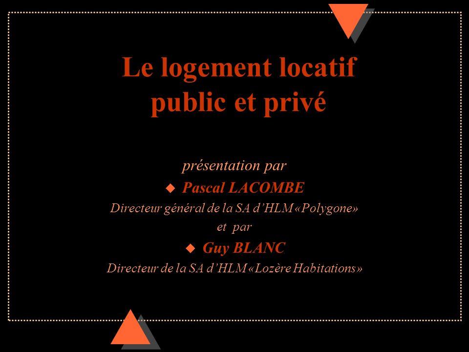 Le logement locatif public et privé