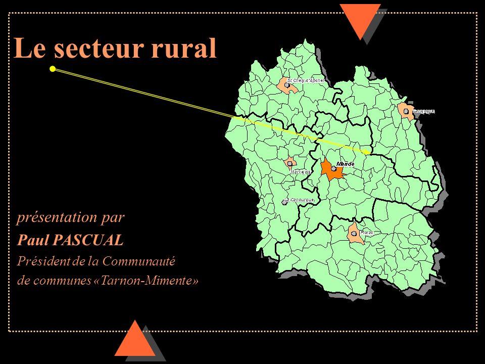 Le secteur rural présentation par Paul PASCUAL