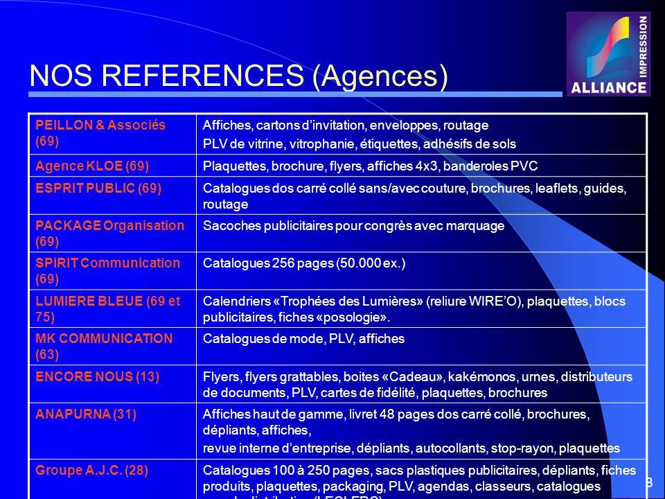 NOS REFERENCES (Agences)