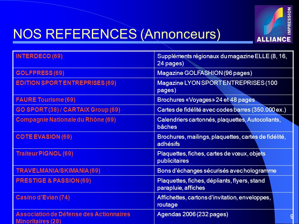 NOS REFERENCES (Annonceurs)