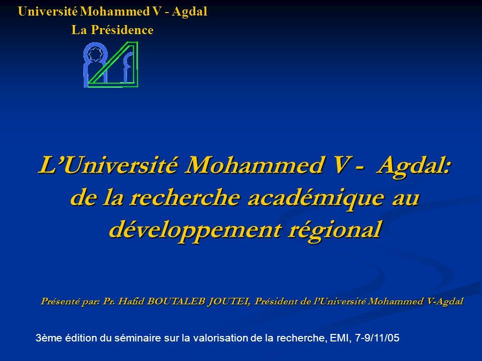 Université Mohammed V - Agdal La Présidence