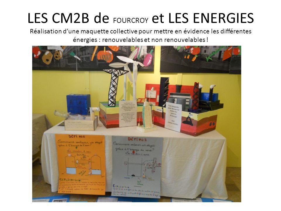 LES CM2B de FOURCROY et LES ENERGIES Réalisation d'une maquette collective pour mettre en évidence les différentes énergies : renouvelables et non renouvelables !