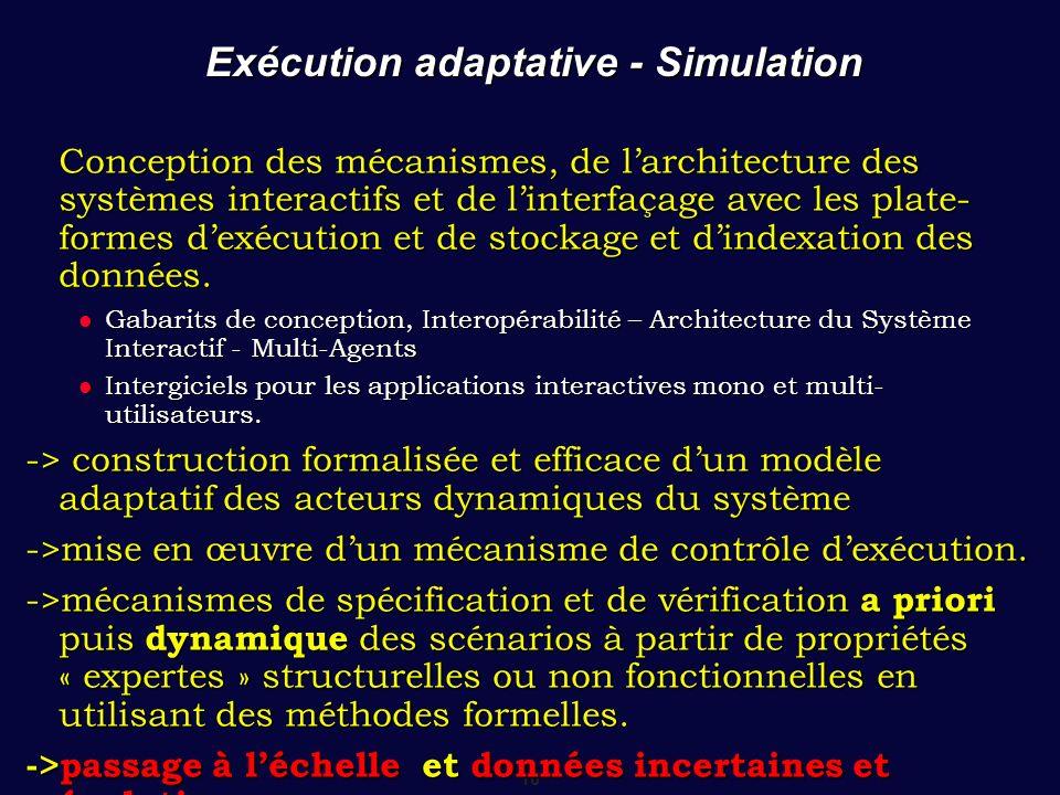 Exécution adaptative - Simulation