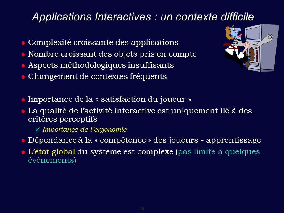 Applications Interactives : un contexte difficile
