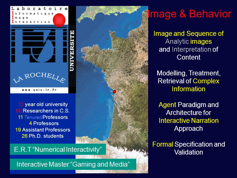 Image & Behavior Image and Sequence of Analytic images
