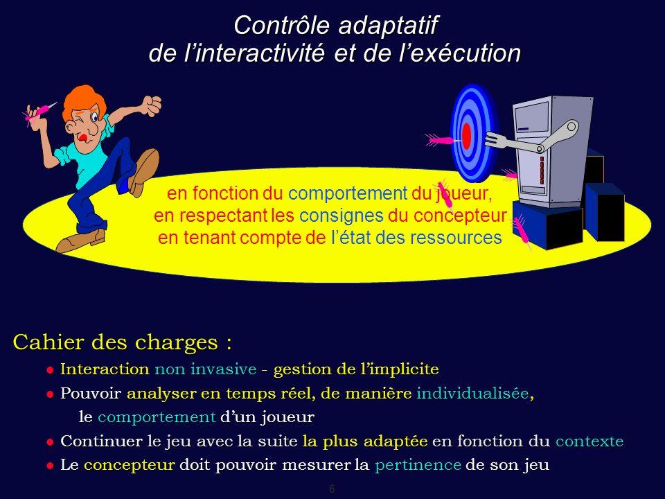 Contrôle adaptatif de l'interactivité et de l'exécution