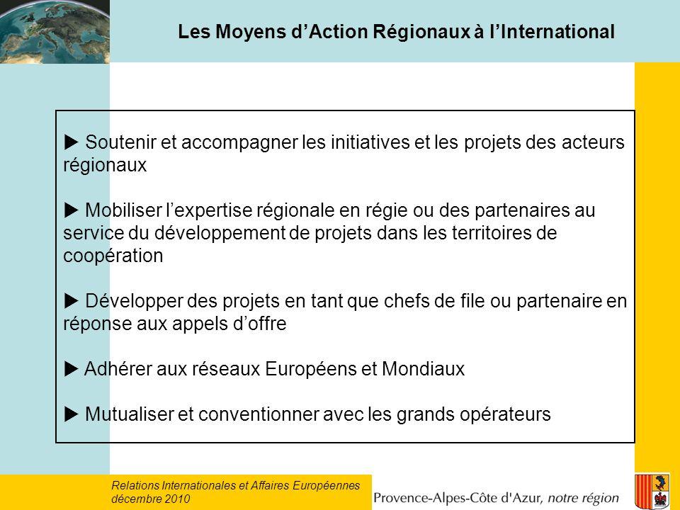 Les Moyens d'Action Régionaux à l'International