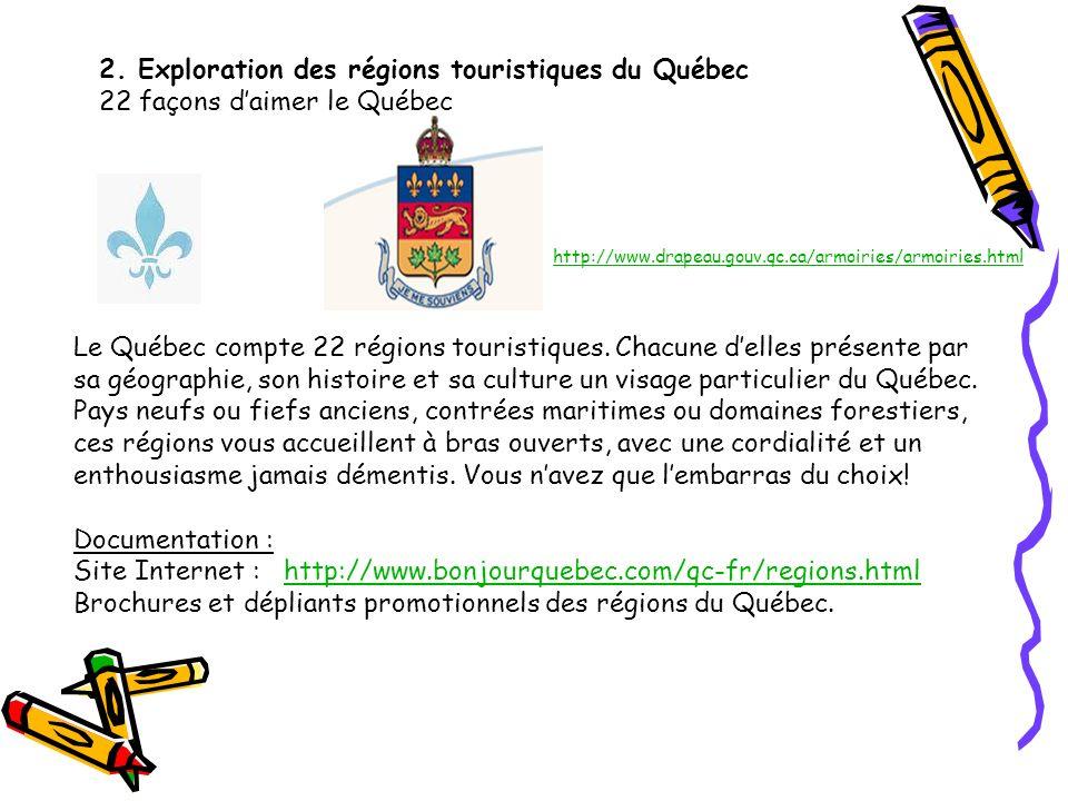 2. Exploration des régions touristiques du Québec