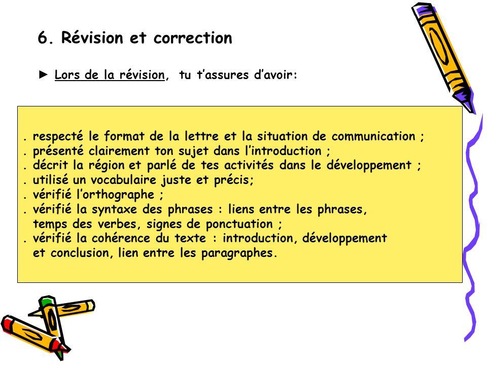 6. Révision et correction