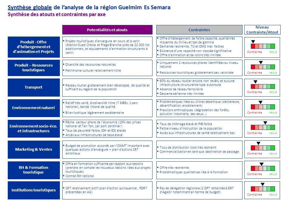 Synthèse globale de l'analyse de la région Guelmim Es Semara