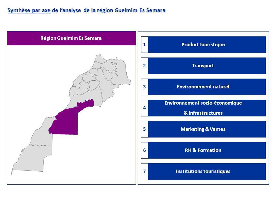 Synthèse par axe de l'analyse de la région Guelmim Es Semara