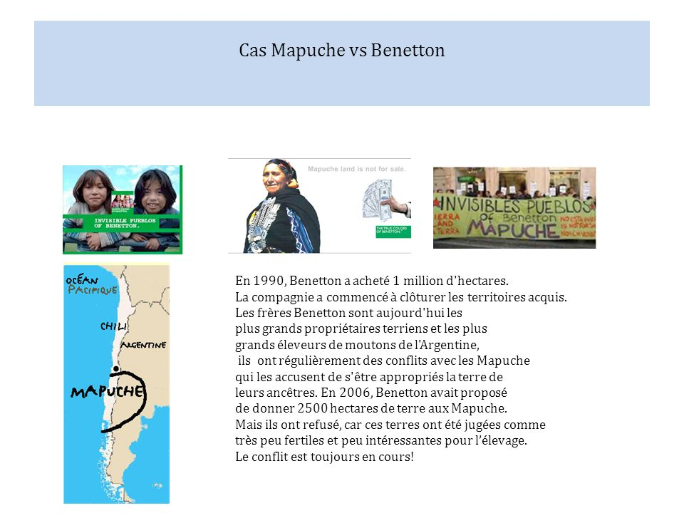 Cas Mapuche vs Benetton