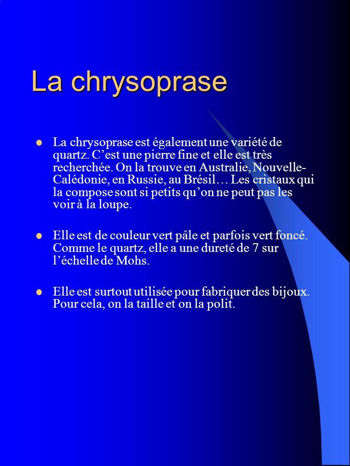 La chrysoprase