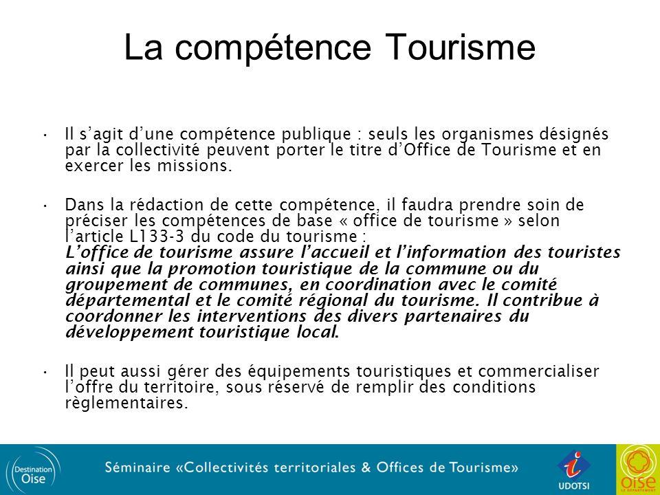 La compétence Tourisme