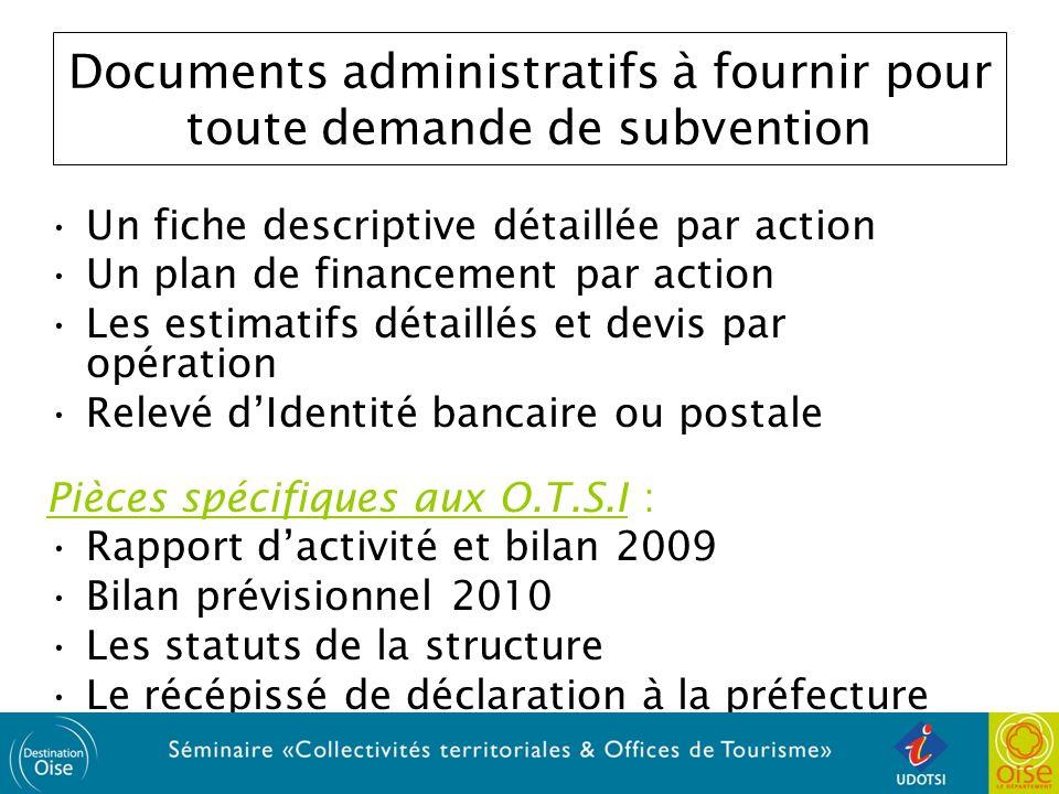 Documents administratifs à fournir pour toute demande de subvention