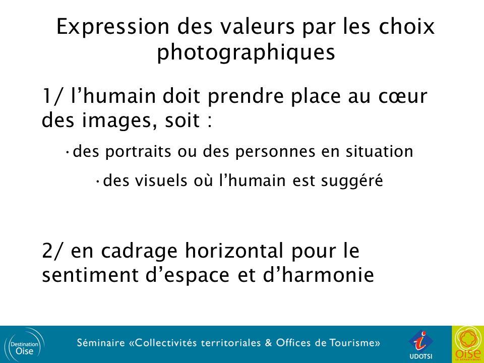 Expression des valeurs par les choix photographiques