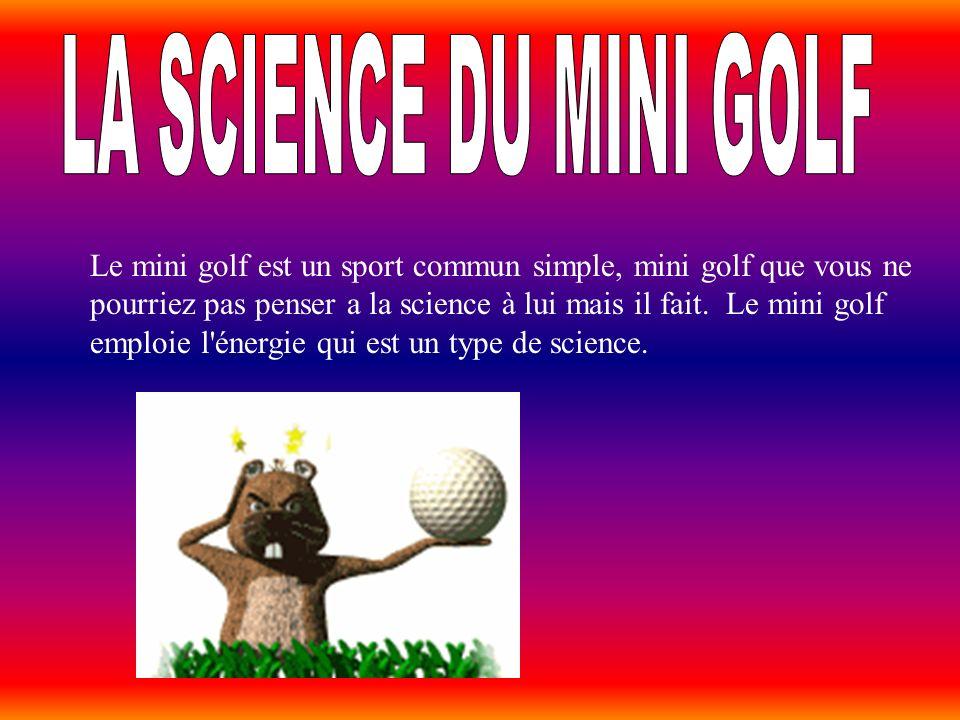 LA SCIENCE DU MINI GOLF