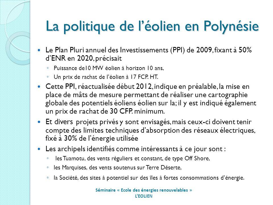 La politique de l'éolien en Polynésie