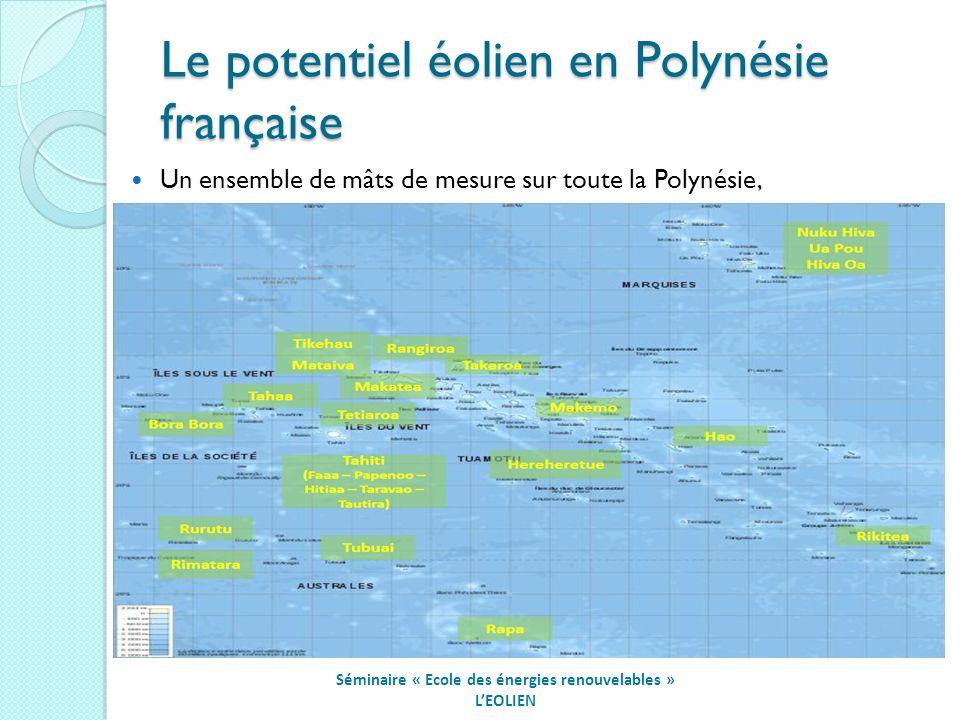 Le potentiel éolien en Polynésie française