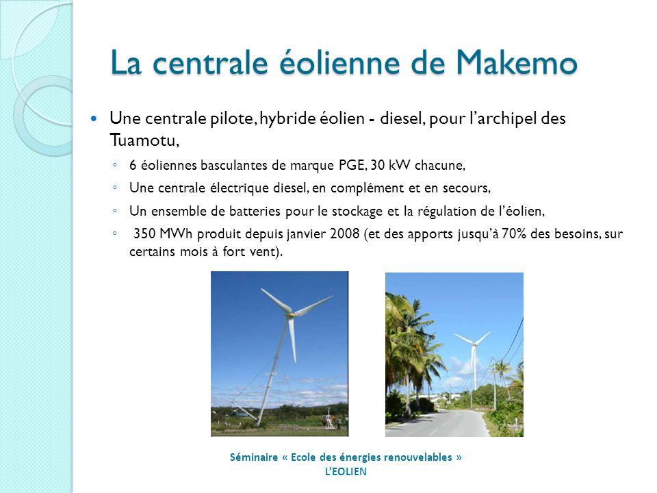 La centrale éolienne de Makemo