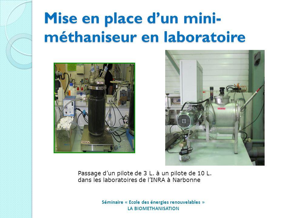 Mise en place d'un mini-méthaniseur en laboratoire