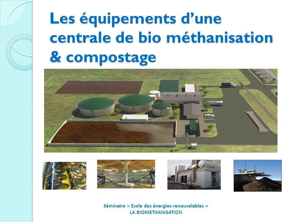 Les équipements d'une centrale de bio méthanisation & compostage